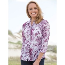 Embroidered Crinkle Blouse