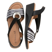 Summer Stripe Sling Back