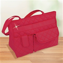 Red Diamond Quilted Bag