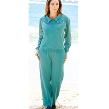 Embroidered Yoke Tracksuit