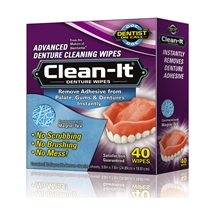 Denture Wipes Pk 40