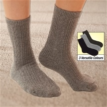 Ladies Cable Knit Socks 3 Pairs