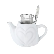 Heart Ceramic Teapot with Infuser