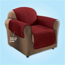 Quilted Cover Burgundy - 2 Seater