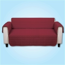 Quilted Cover Burgundy - 3 Seater