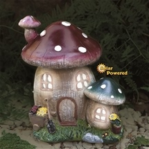 Mushroom Cottage Solar Light