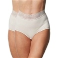 2 Pack Delicate Waist Lace Trimmed Brief_19P05_0