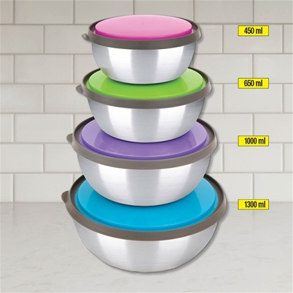 Stainless Steel Bowl - Set 4